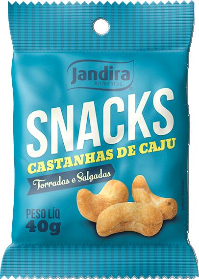 Snacks Castanha De Caju Torrado e Salgado